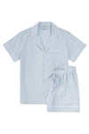 Premium Cotton Short Set in Mist Blue