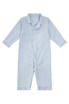 Premium Cotton Infant Romper in Mist Blue