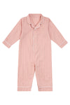 Premium Cotton Infant Romper in Soft Rose