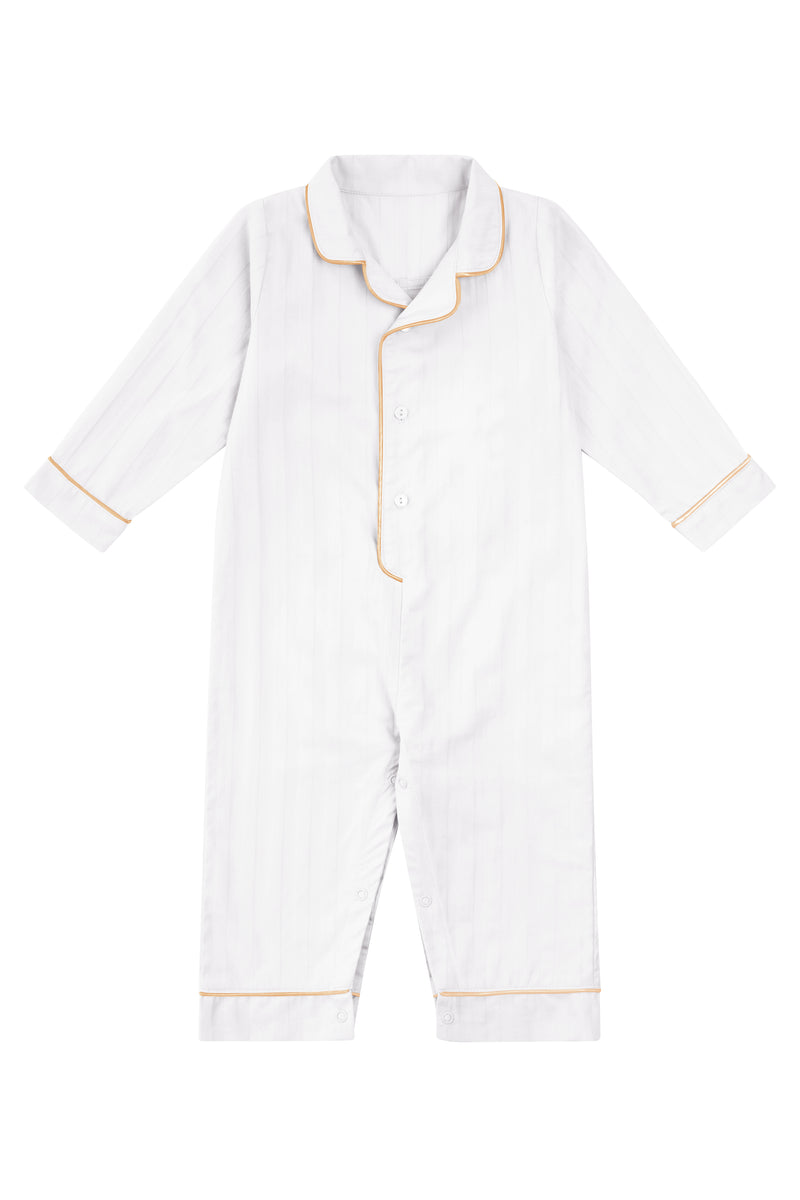 Premium Cotton Infant Romper in Lily White