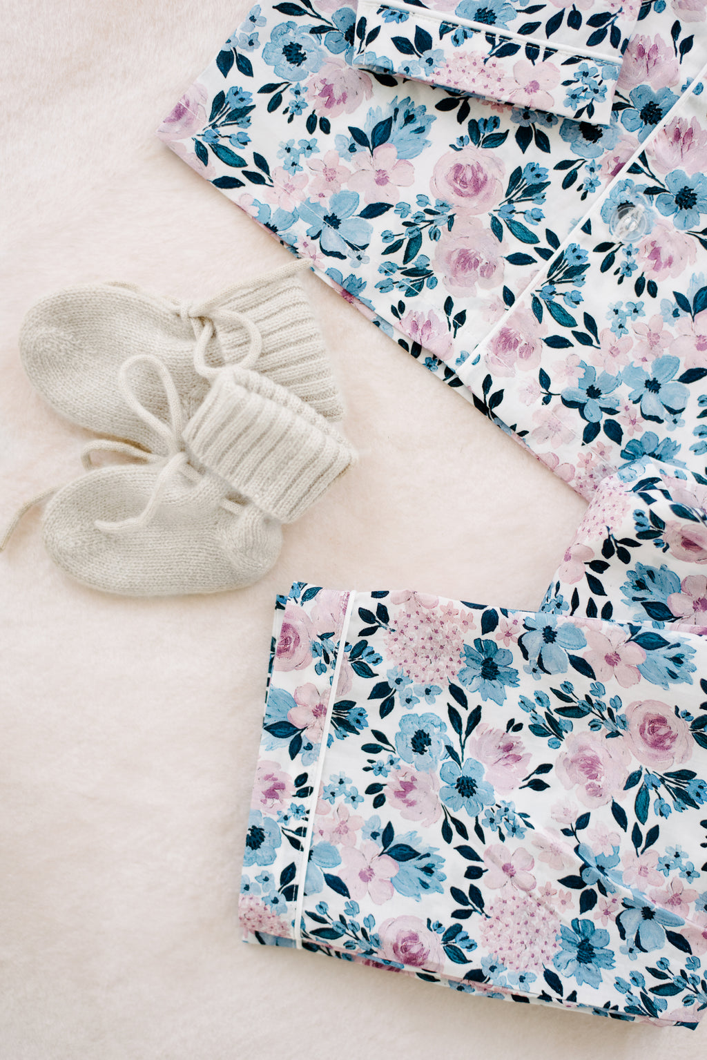 Cashmere Baby Bonnet and Bootie Set