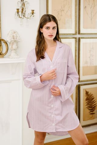 Premium Cotton Nightshirt in Lily White