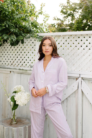 Premium Cotton Short Set in Lavender