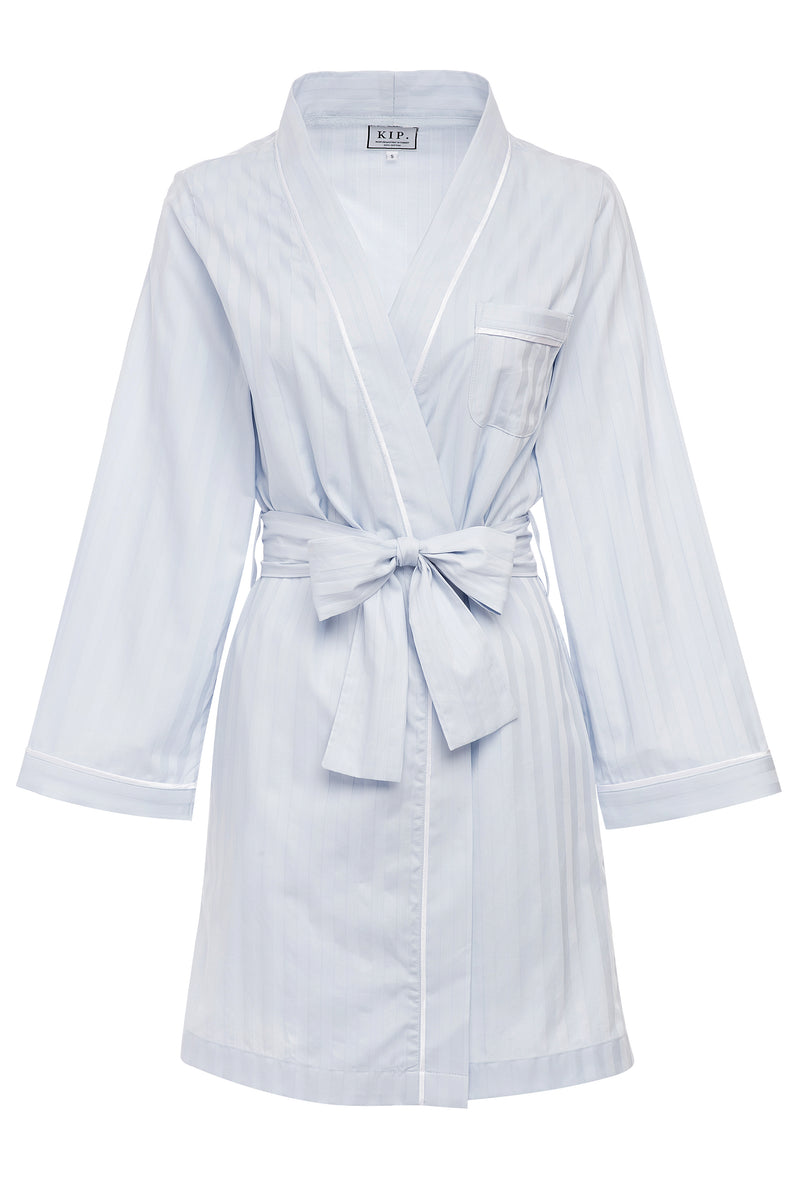 Premium Cotton Robe in Mist Blue
