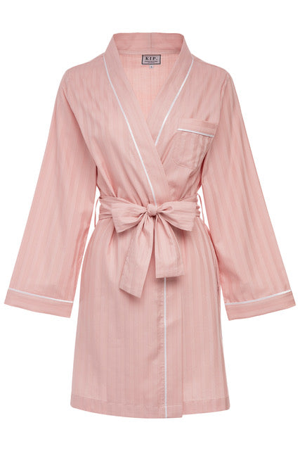 Premium Cotton Robe in Soft Rose