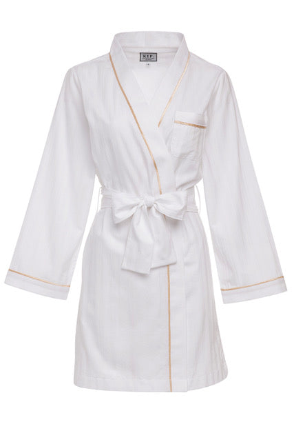 Premium Cotton Robe in Lily White