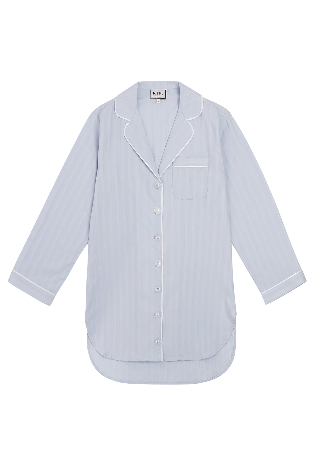 Premium Cotton Nightshirt in Mist Blue