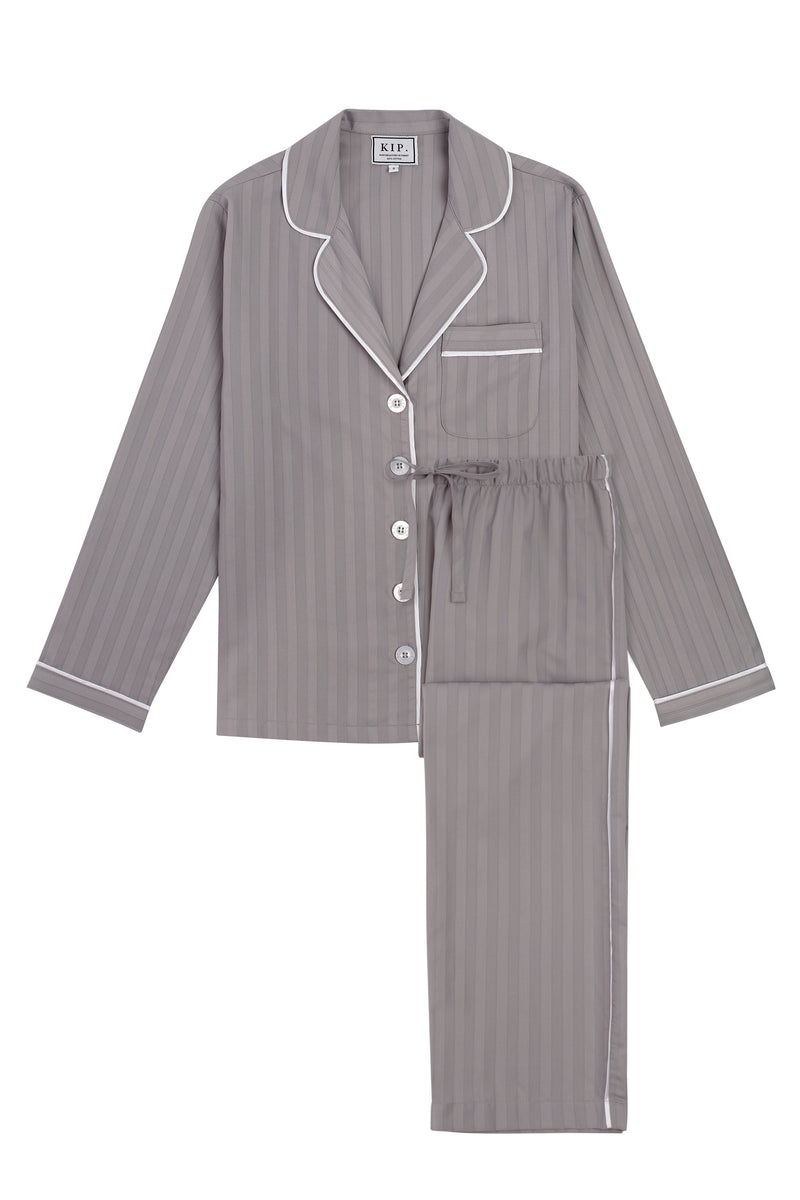 PREORDER | Premium Cotton Pajama Set in Dove Grey