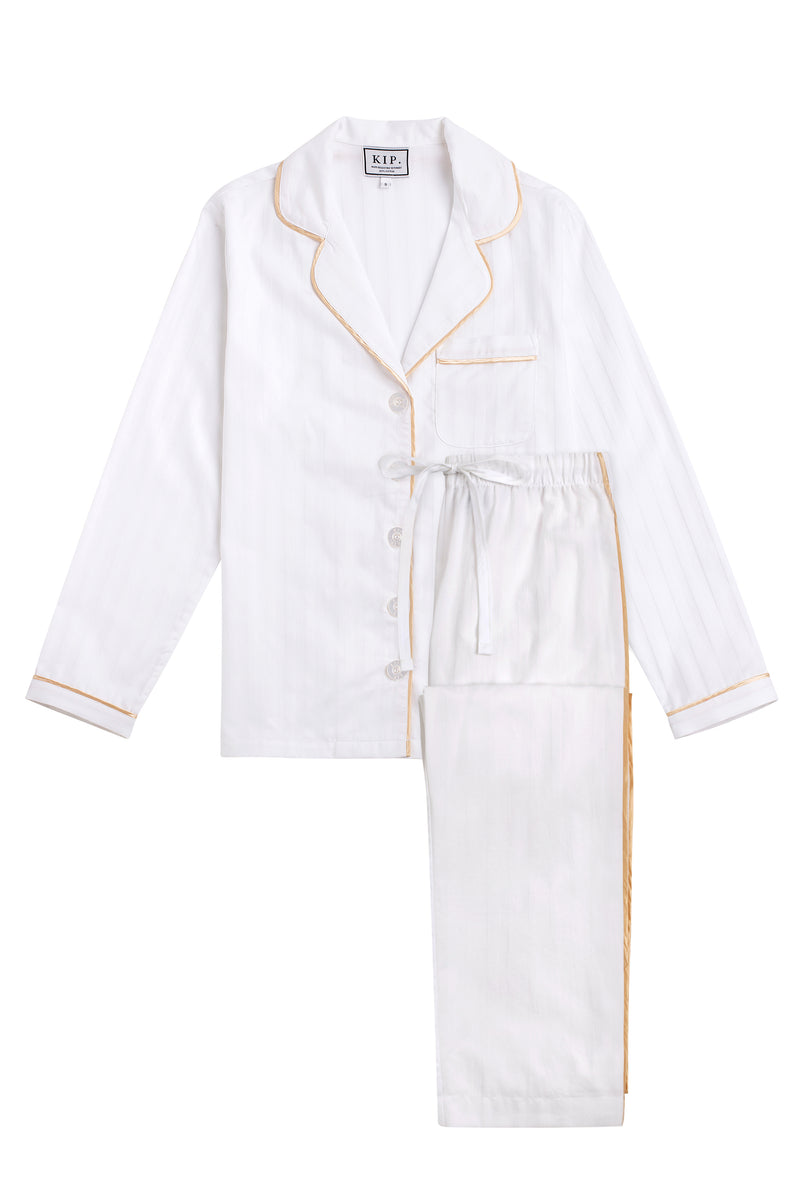 PREORDER | Premium Cotton Pajama Set in Lily White