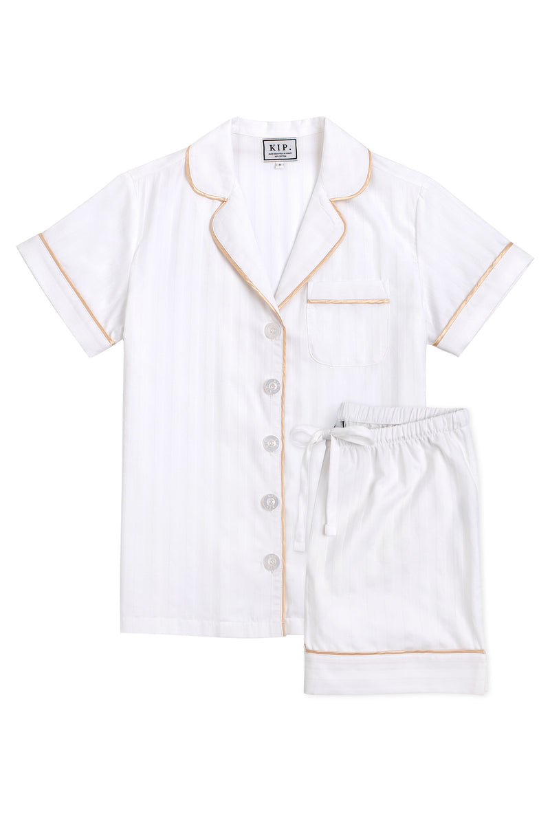 Premium Cotton Short Set in Lily White