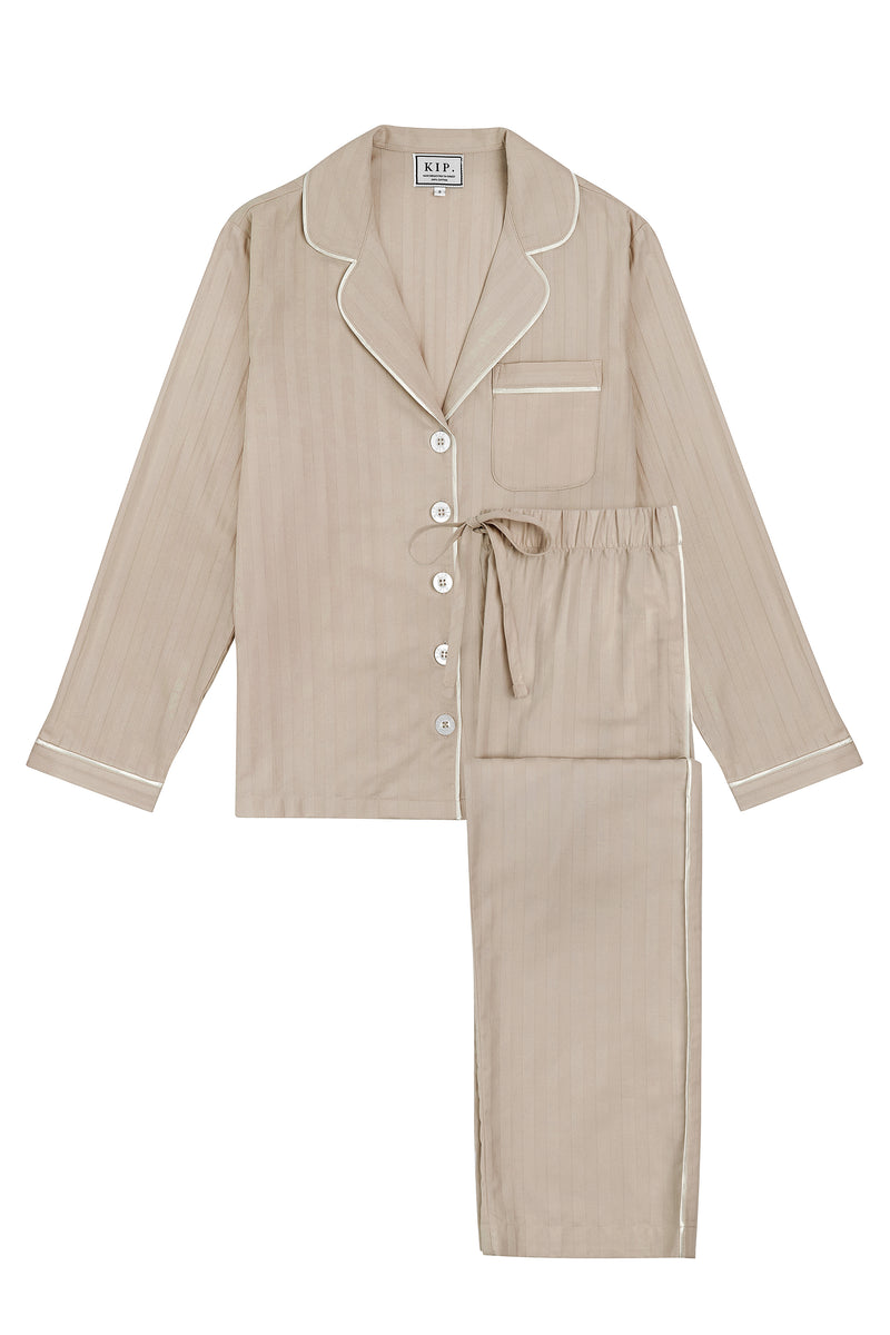 Premium Cotton Pajama Set in Sand