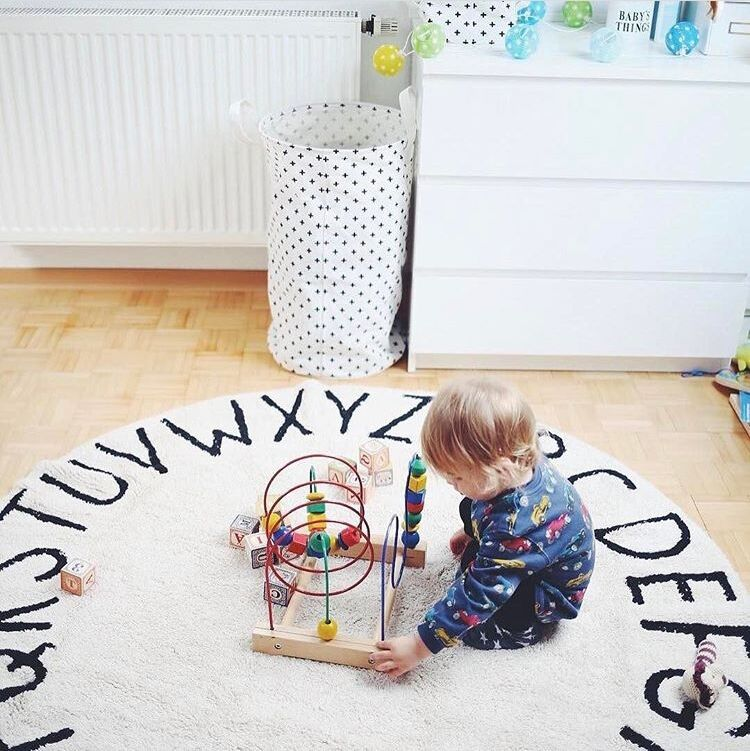 Alphabet Mat in White