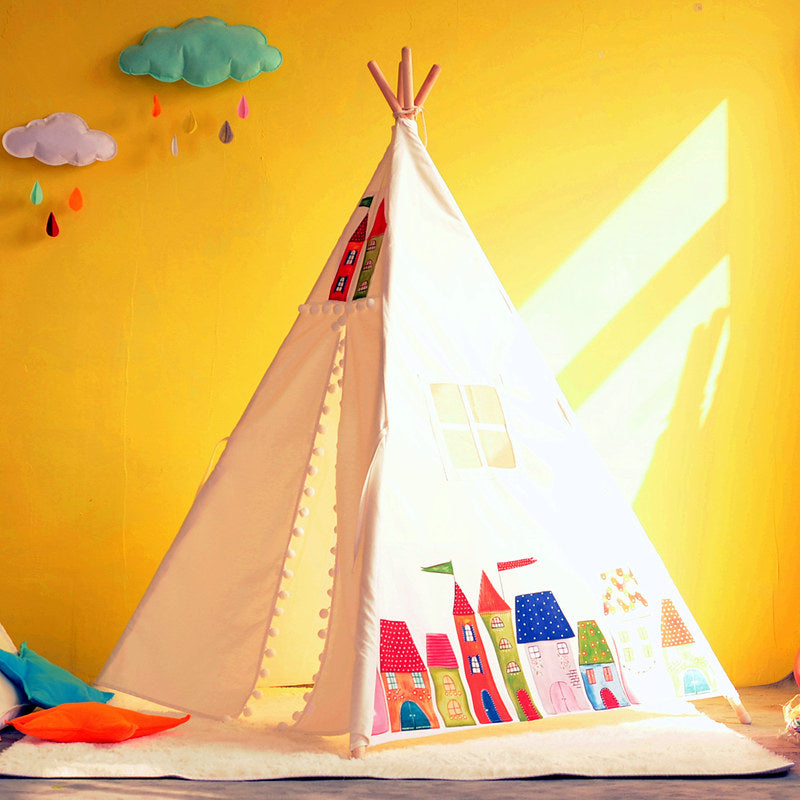Premium Teepee in City of Dreams + Mat Bundle