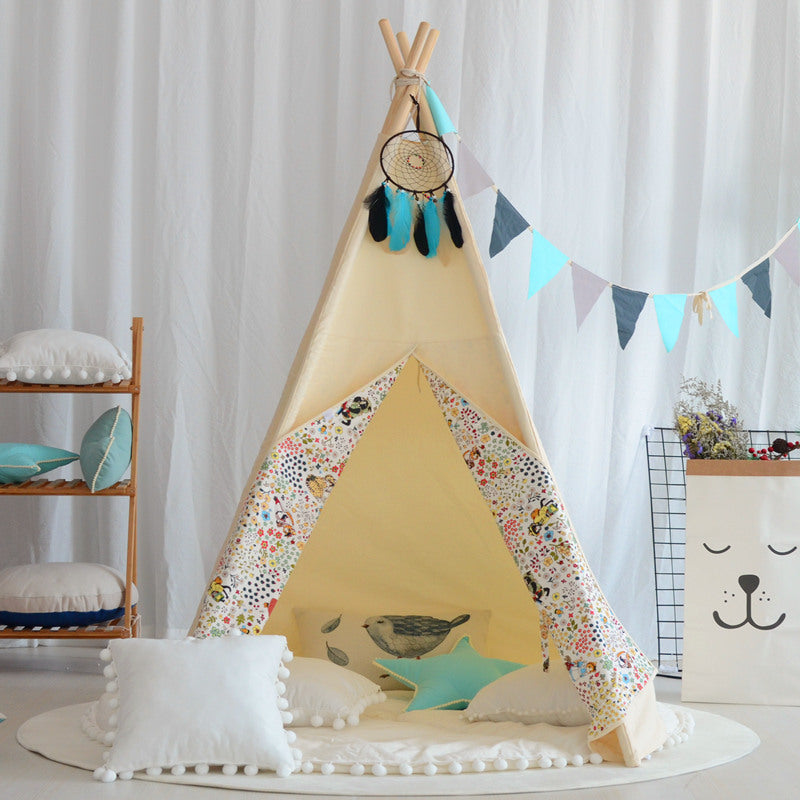 Premium Teepee in Botanical Print+ Mat Bundle