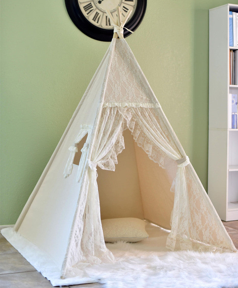 Premium Teepee in Lace + Mat Bundle