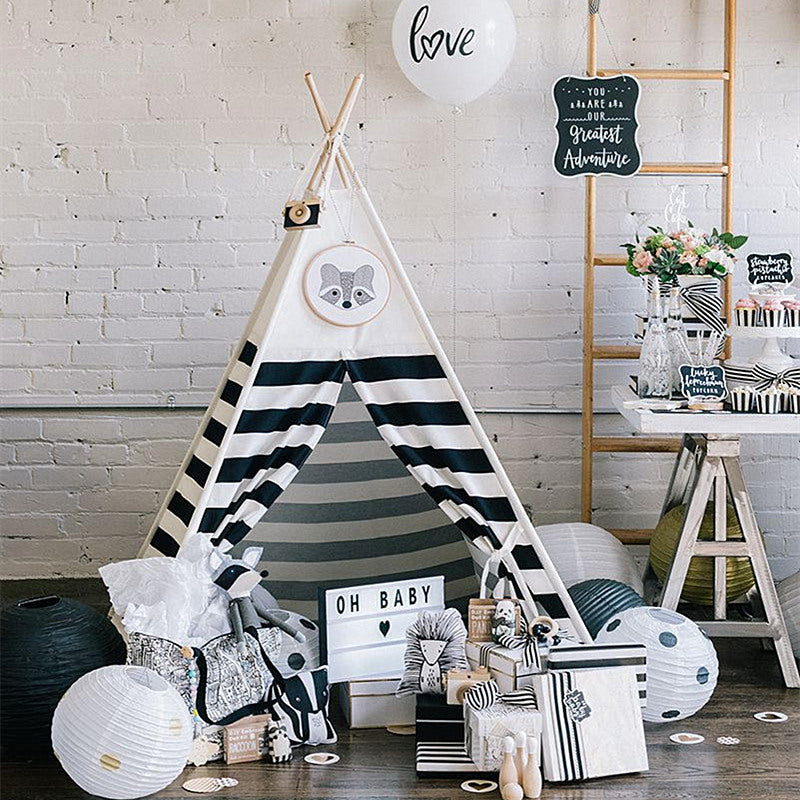 Premium Teepee in Monochrome + Mat Bundle