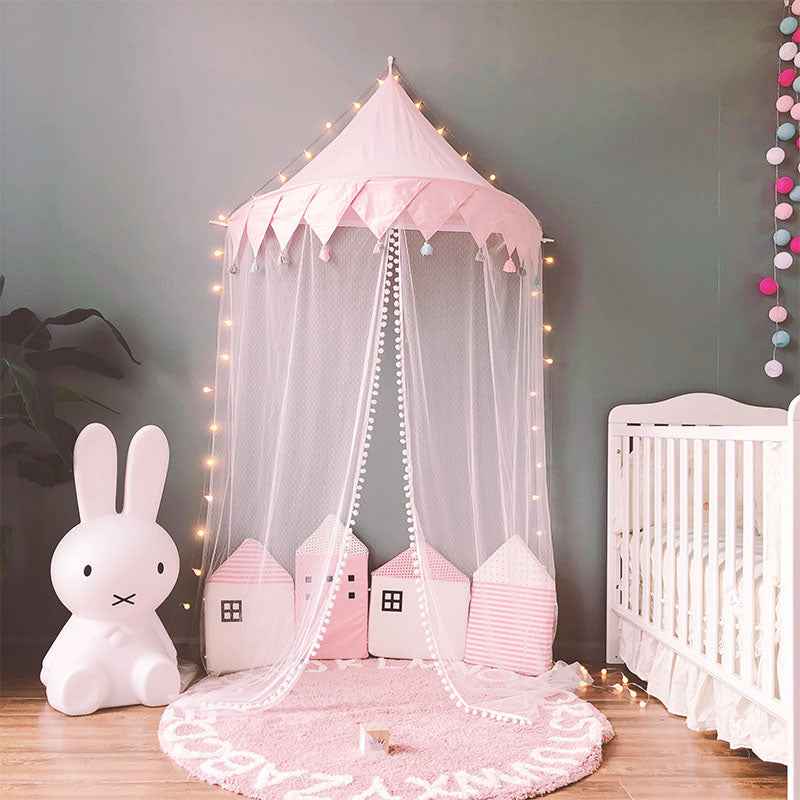 Wall Tent in Pink Tassel + Mat Bundle