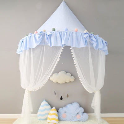 Wall Tent in Blue Ruffles