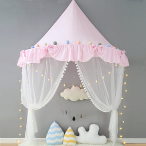 Wall Tent in Pink Ruffles