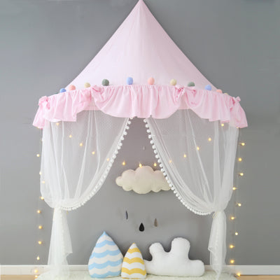 Wall Tent in Pink Ruffles + Mat Bundle
