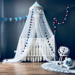 Mesh Canopy in Polka Blue + Mat Bundle