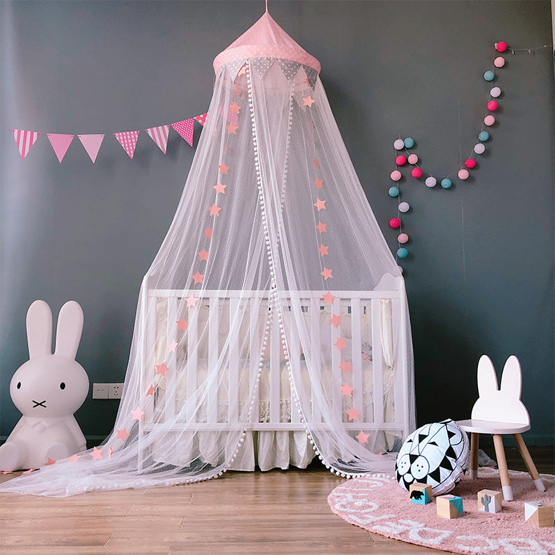 Mesh Canopy in Polka Blush