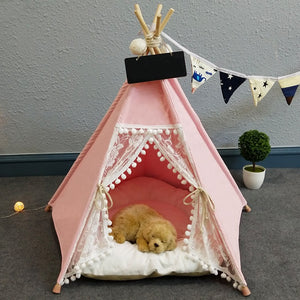Pet Teepee in Candyfloss + Thick Cushion + Cushion Cover