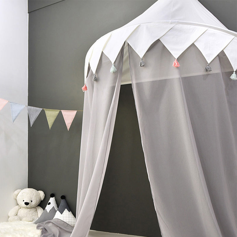 Wall Tent in White Tassel + Mat Bundle