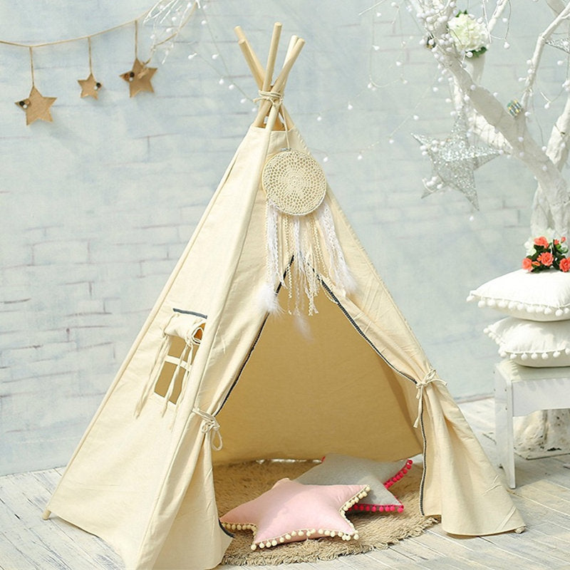 Premium Teepee in Boho Cream + Mat Bundle