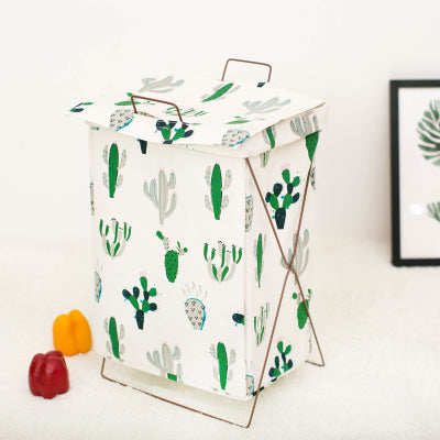 Metal Stand Storage Basket in Cactus