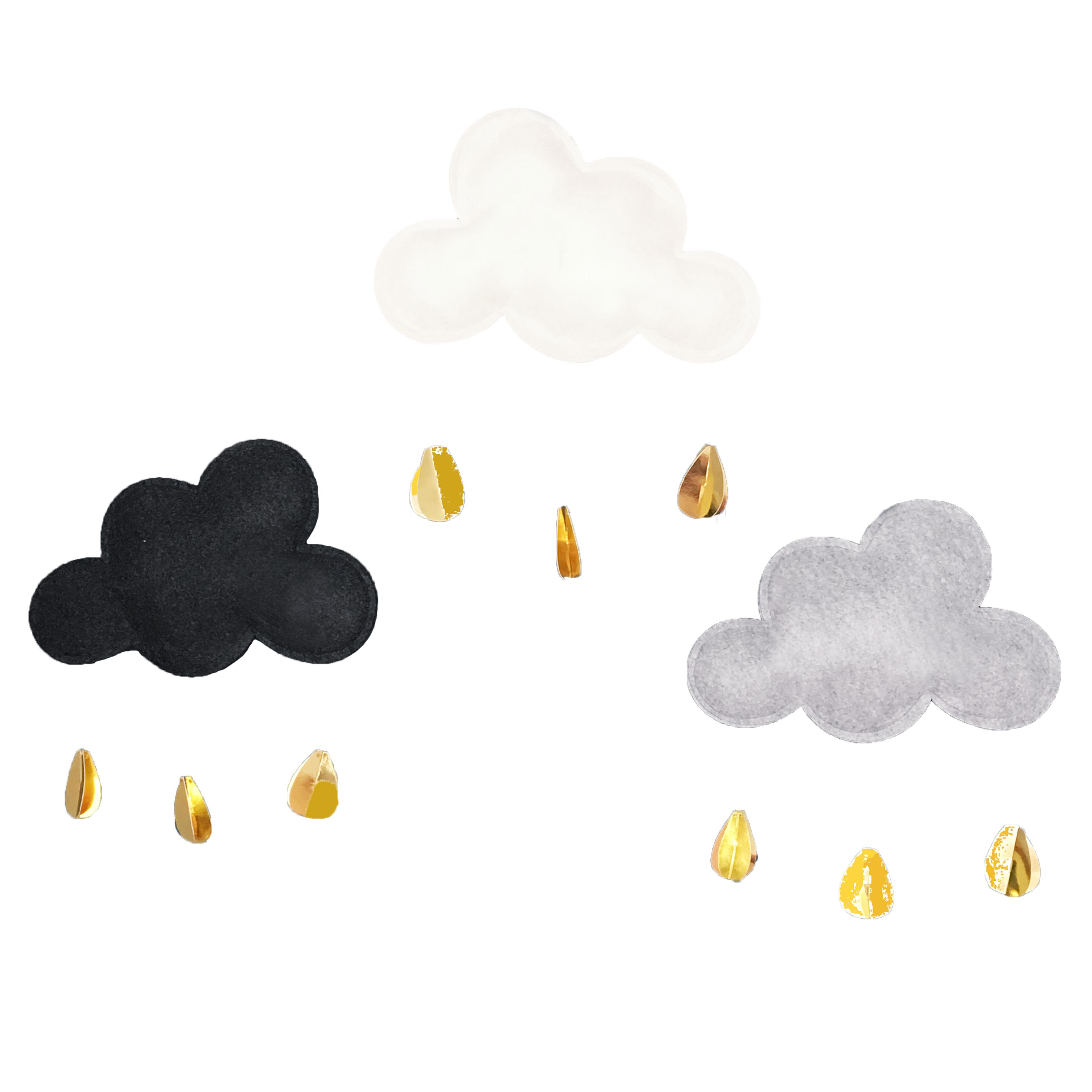 Gray Cloud with Gold Raindrops