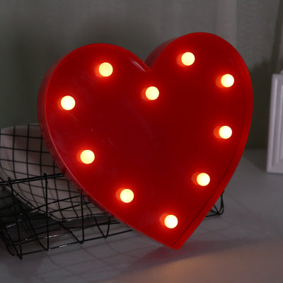 Heart LED Light in Red
