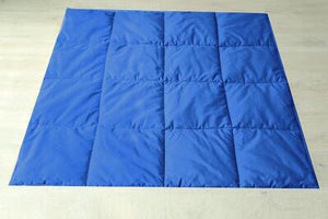 Dual Sided Square Mat in Royal Blue and White