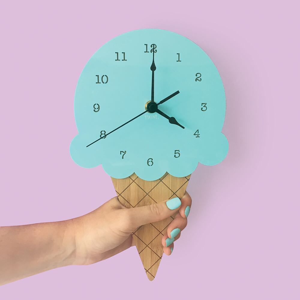 Ice Cream Clock in Mint