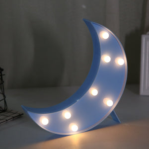 Moon LED Light in Blue