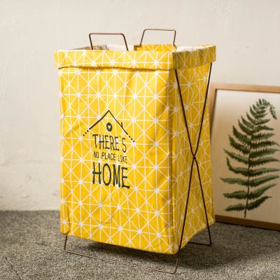 Metal Stand Storage Basket in Yellow