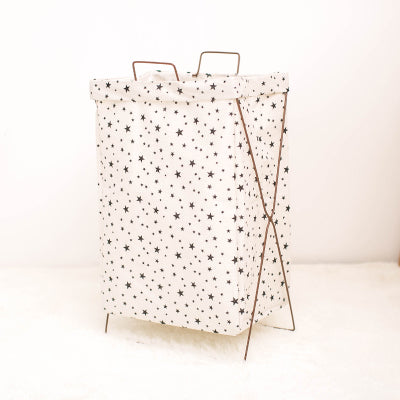 Metal Stand Storage Basket in Star
