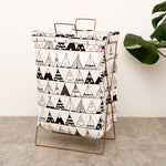 Metal Stand Storage Basket in Teepee