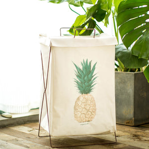 Metal Stand Storage Basket in Pineapple
