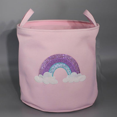 Storage Basket in Pink Rainbow