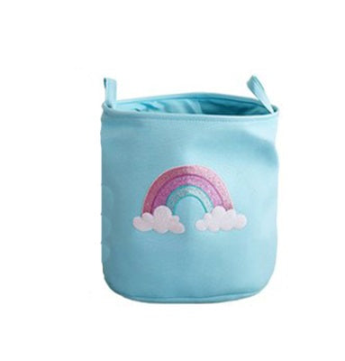 Storage Basket in Blue Rainbow