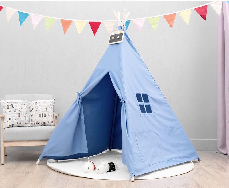 Basic Teepee in Sky + Mat Bundle