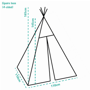 Premium Teepee in Powder Gray