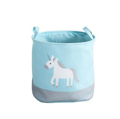 Storage Basket in Blue Unicorn
