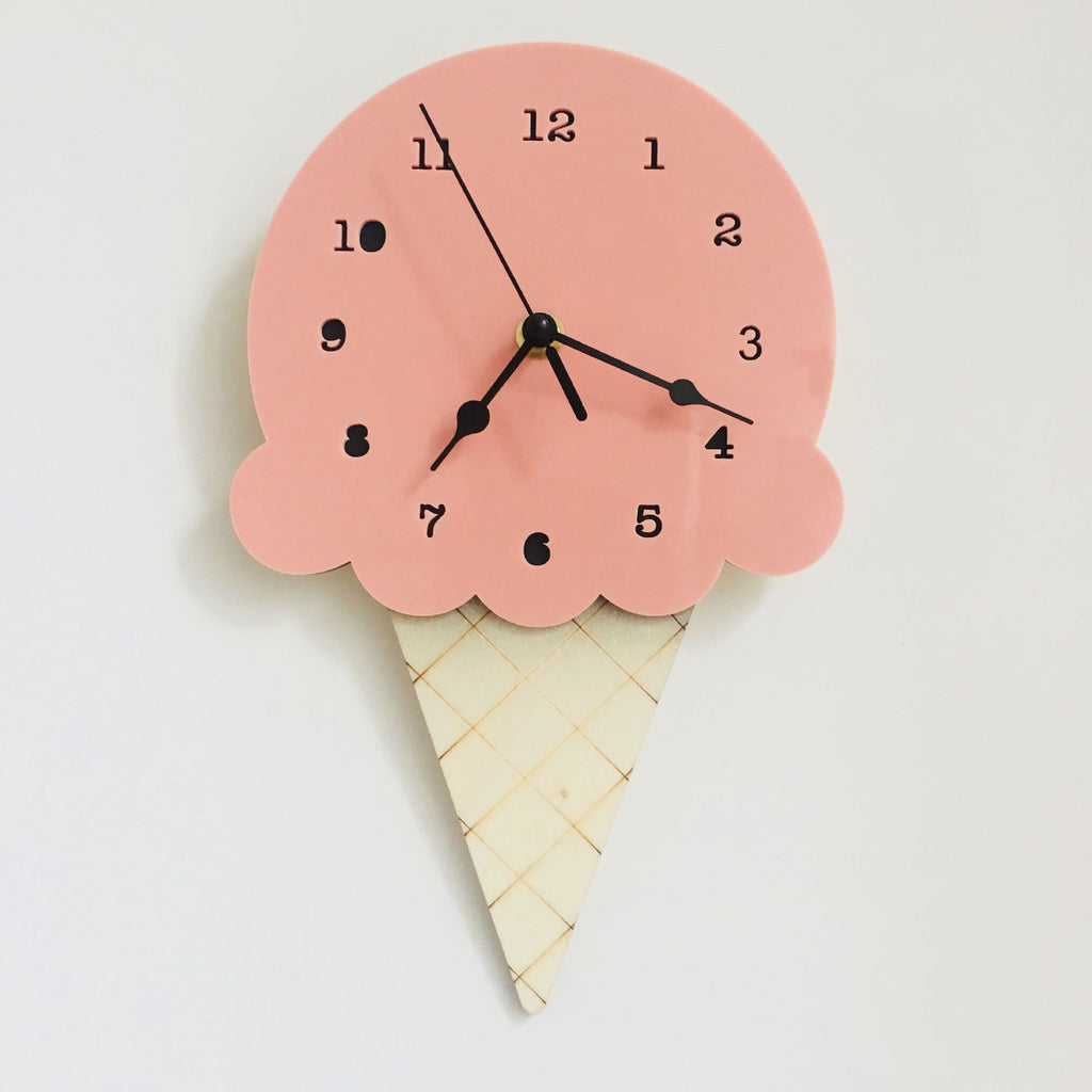 Ice Cream Clock in Watermelon