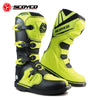SCOYCO Cow Leather Motorcycle Racing Boots Professional