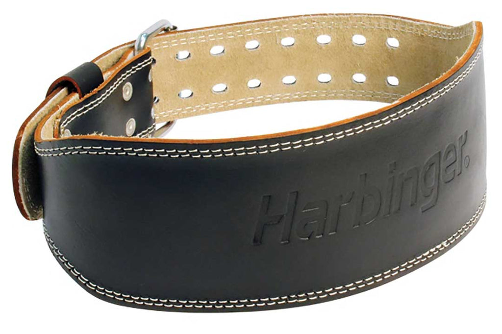 Harbinger 4 inch Padded Leather Belt (Black)