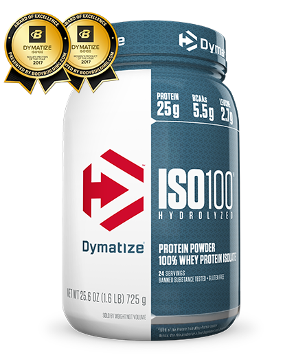 DYMATIZE ISO100 100% Hydrolyzed Whey Protein Isolate