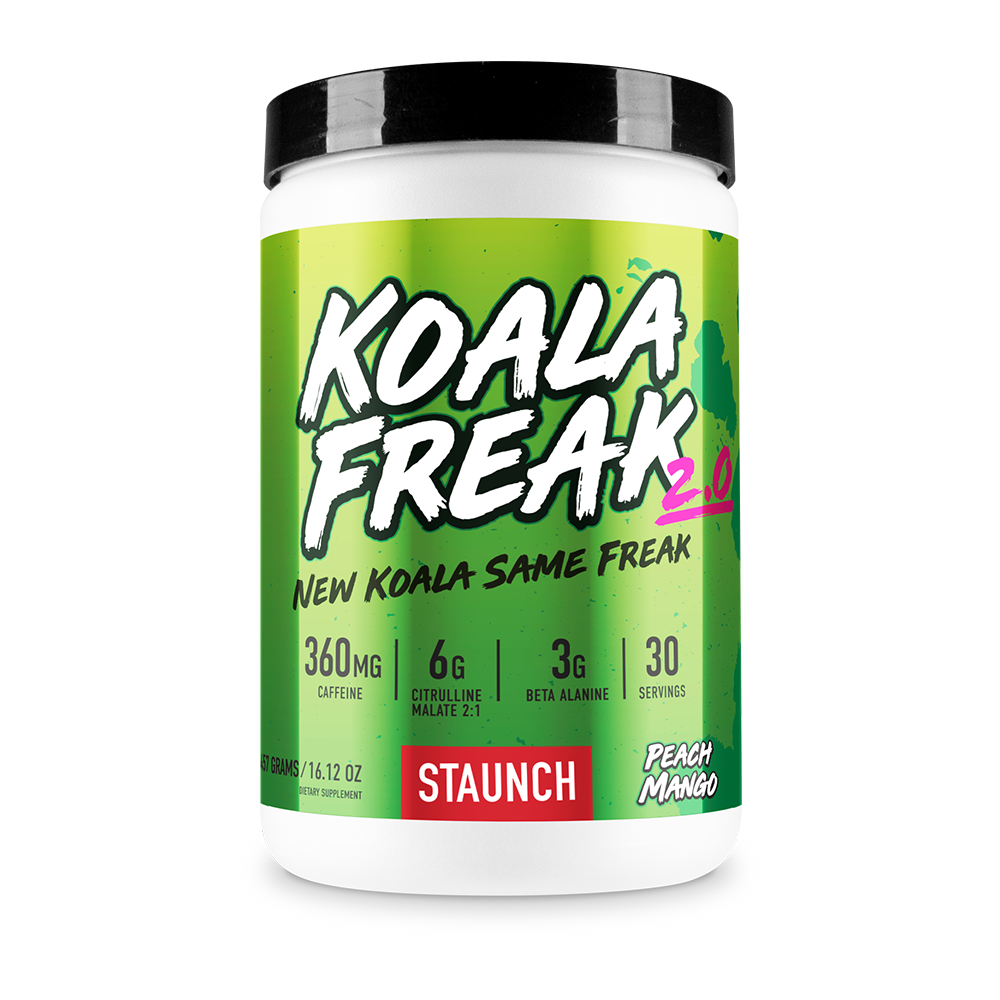 Staunch Koala Freak Pre-Workout 2.0 New Koala Same Freak