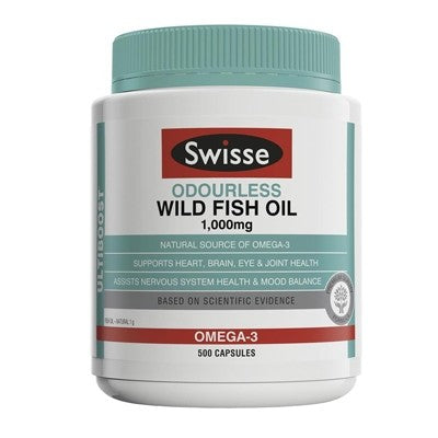 Swisse Odourless Wild Fish Oil 1,000mg